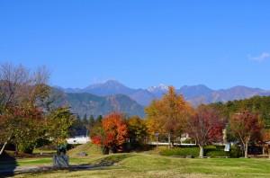 11月8日堀金から常念岳を望む